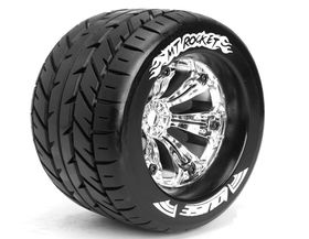 Louise 1:8 3.8 Inch Monster Tire MT-Rocket Mounted On Chrome Wheel - 1:2 Offset - Sport (2)