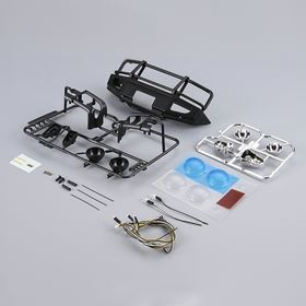 Killerbody 1/10 Alloy Bumper With LEDs Upgrade Sets - Matt-Black