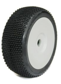 Medial Pro - Racing Tires mounted on White Rims for 1/8 Buggy - Razor M4 Super Soft (2)