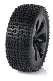 Medial Pro - Racing Tires mounted on Black Rims for Traxxas Slash 4x4 F&R - Gravity M4 Super Soft- (2)