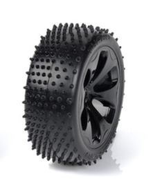 Medial Pro - Racing Tires mounted on Black Rims for Traxxas Slash 4x4 F&R - Turbo M4 Super Soft (2)