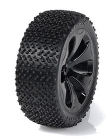 Medial Pro - Racing Tires mounted on Black Rims for Traxxas Slash 4x4 F&R - Matrix M3 Soft (2)