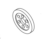 Team Corally Rubber Wheel for Nitro Powerbox