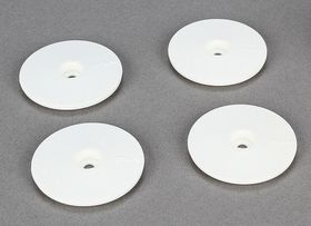 Team Losi Racing Wheel Disk for 22SCT - White (4)