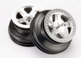 "Traxxas Wheels 2.2/3.0"" Chrome 2WD Front (2)"