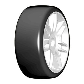 GRP 1:8 GT - T02 SLICK -  New Spoked White Wheel - 1 Pair