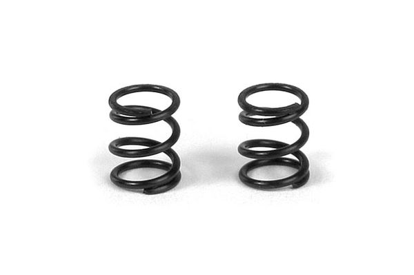 Xray Front Coil Spring 3.6X6X0.5mm; C=5.0 - Black (2)