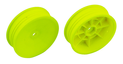 "Associated 2WD Slim Front Wheels, 2.2"" 12mm Hex Yellow (2)"