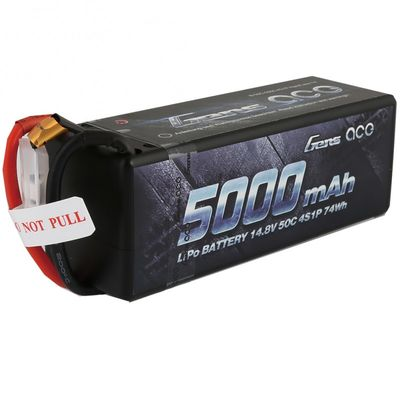 Gens ace 5000mAh 14.8V 50C 4S1P Hard Case Lipo Battery Pack