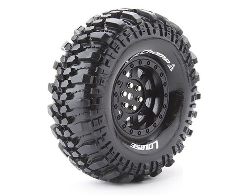 "Louise Tire & Wheel CR-Champ 1.9"" Black Crawler (2)"