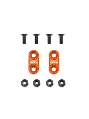 Arrowmax 1:10th On-Road Alu Wing Mounts - Orange