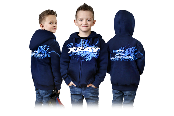 Xray Junior Sweater Hooded With Zipper - Blue (XL)