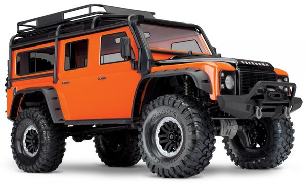 Traxxas TRX-4 1/10 Scale And Trail Crawler Land Rover Defender - Adventure Limited Edition Orange Ilman Akkua & Laturia